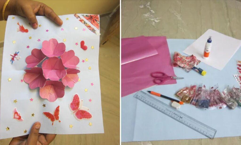 cartão flores dia das mães