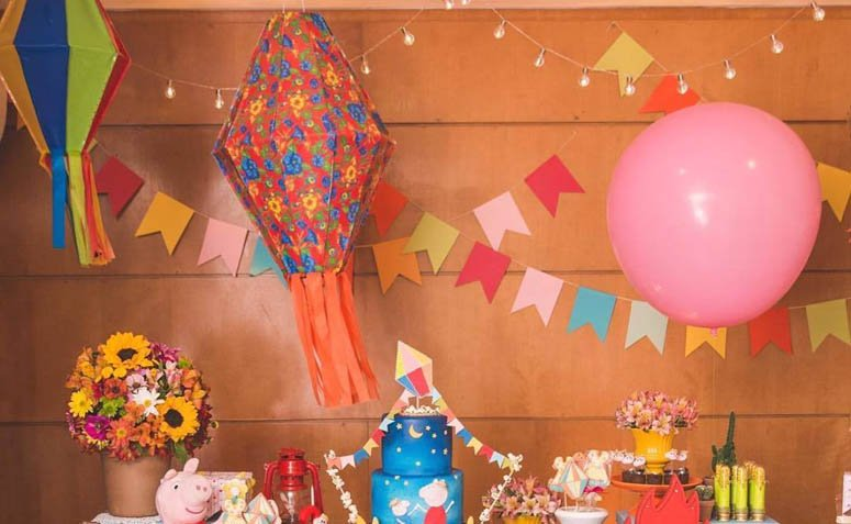como fazer balão festa junina