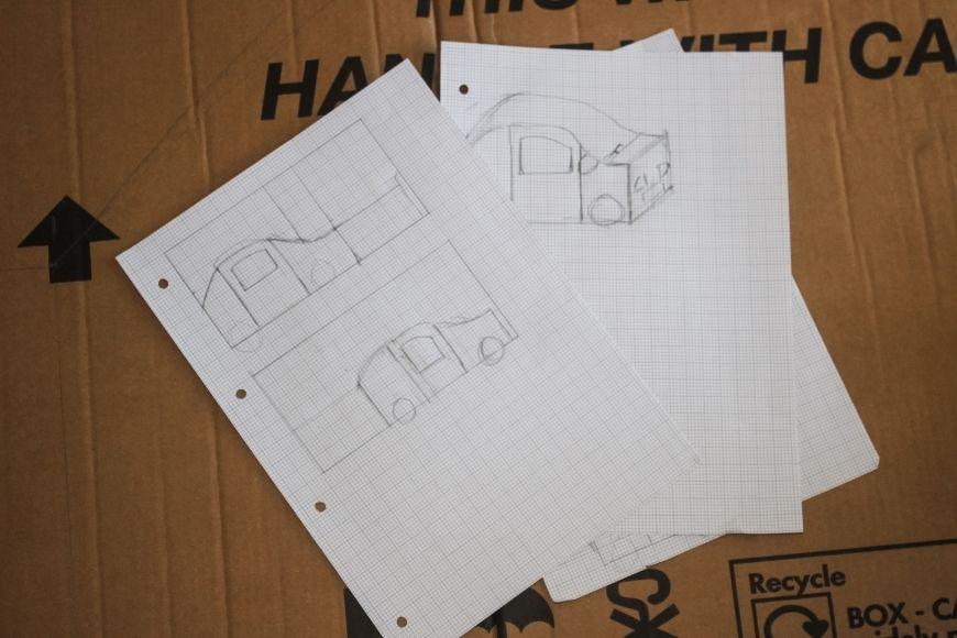 como fazer carrinho de papelão