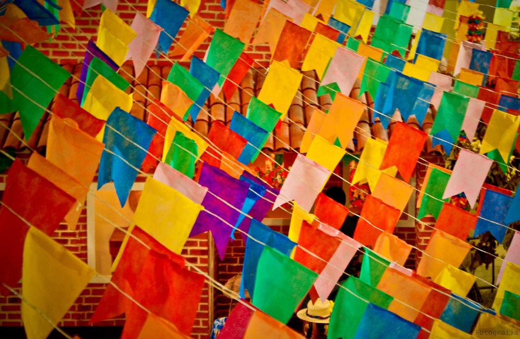 decoração bandeirinhas festa junina