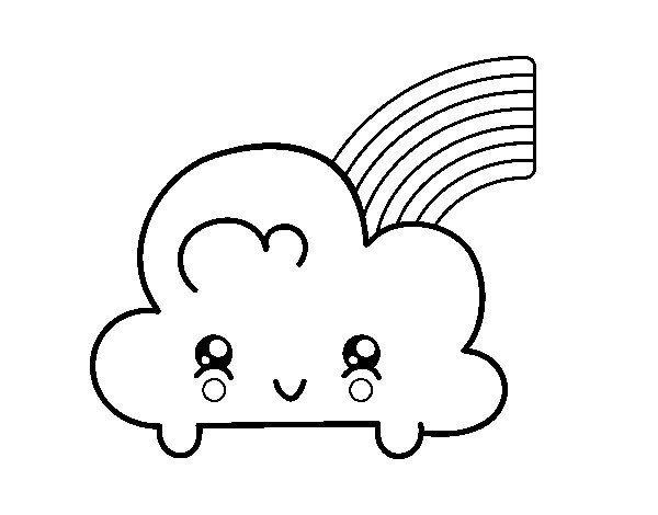 desenho kawaii arco iris