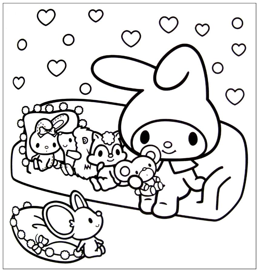 desenho kawaii coelho