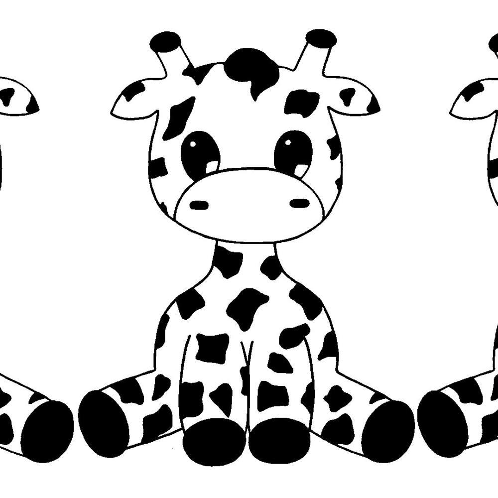 desenho kawaii girafa para colorir