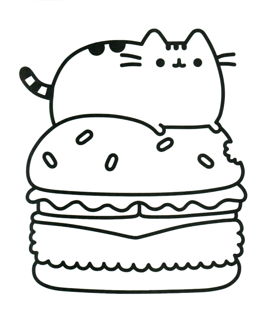 desenho kawaii hamburguer