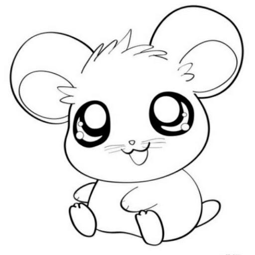 desenho kawaii hamtaro mouse