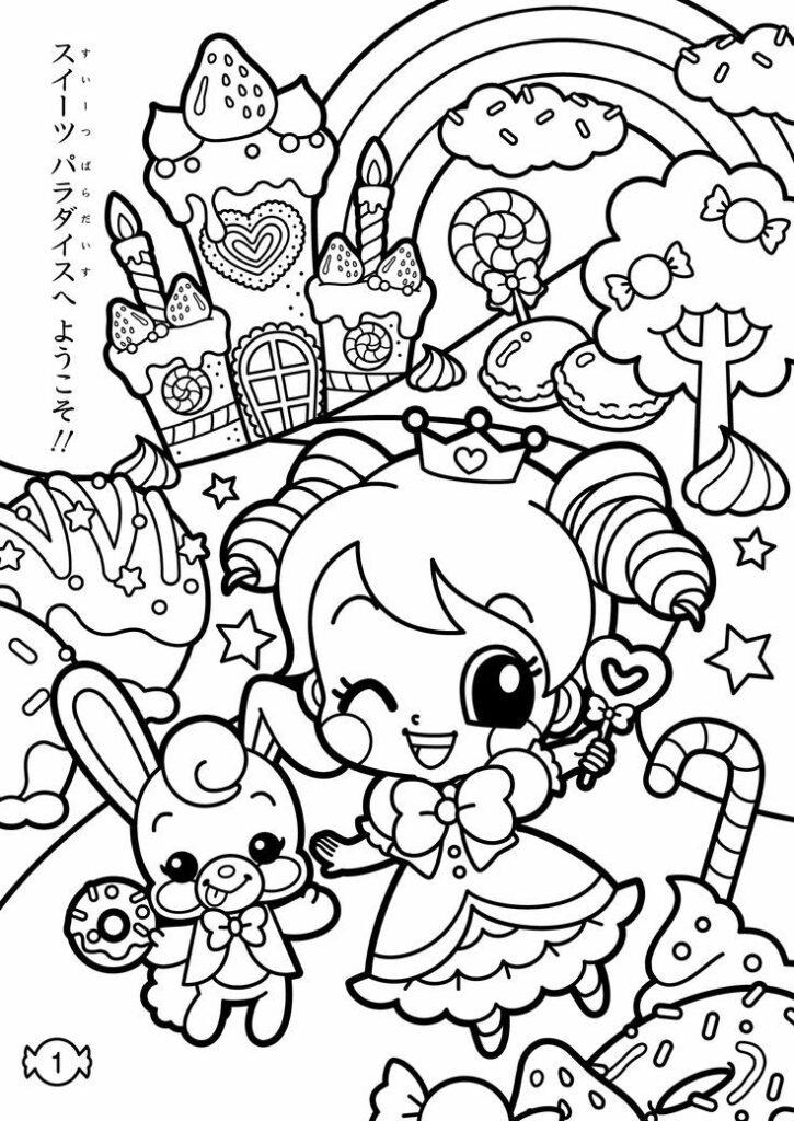 desenho kawaii menina