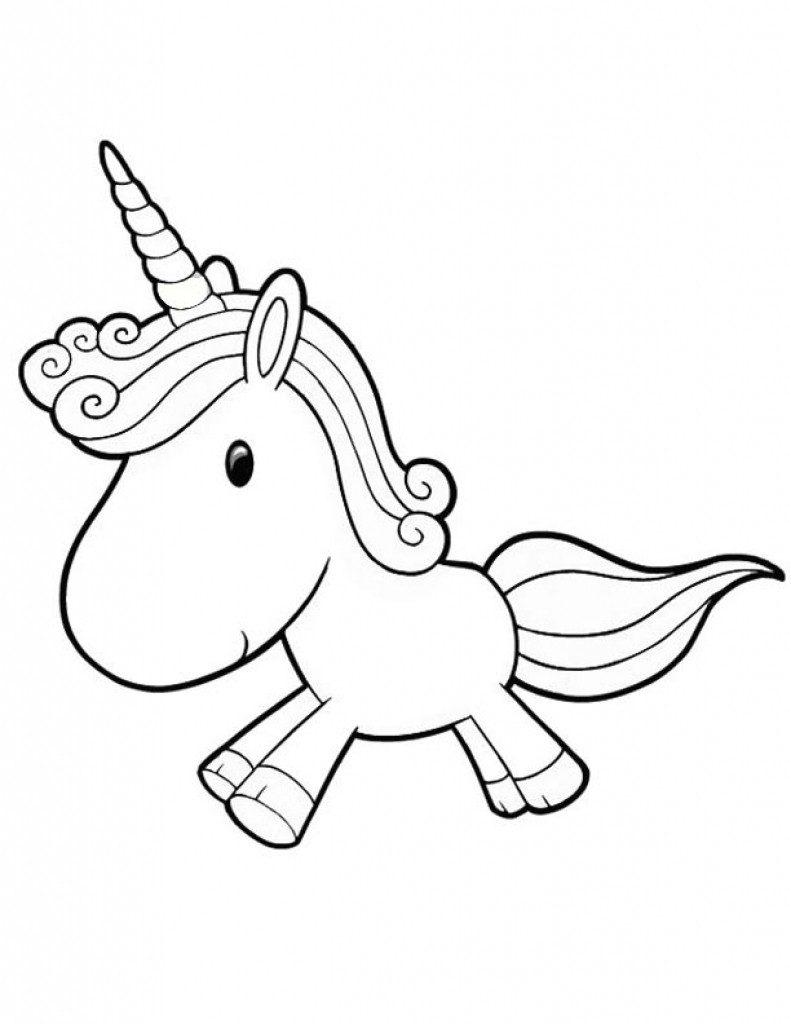 desenho kawaii unicornio