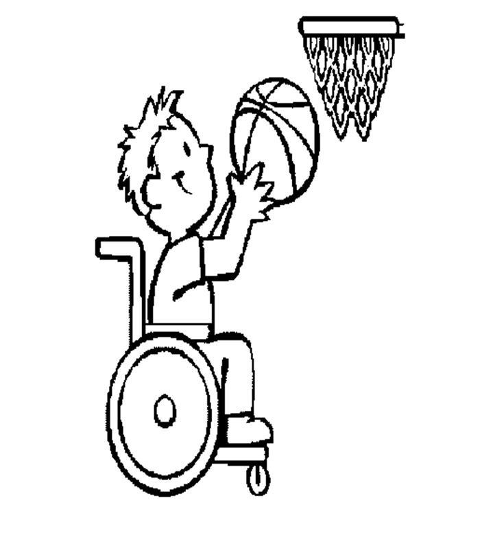 desenho portador deficiência física colorir