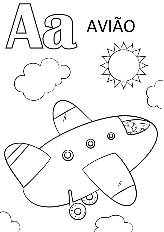 desenhos educativos letra a