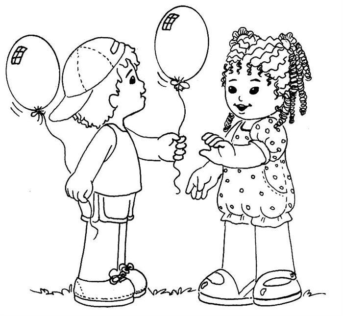desenhos educativos para colorir menino menina