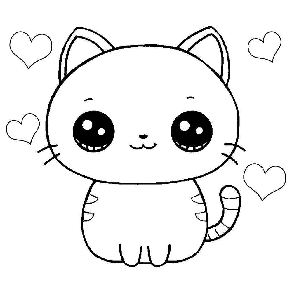 desenhos kawaii animal colorir