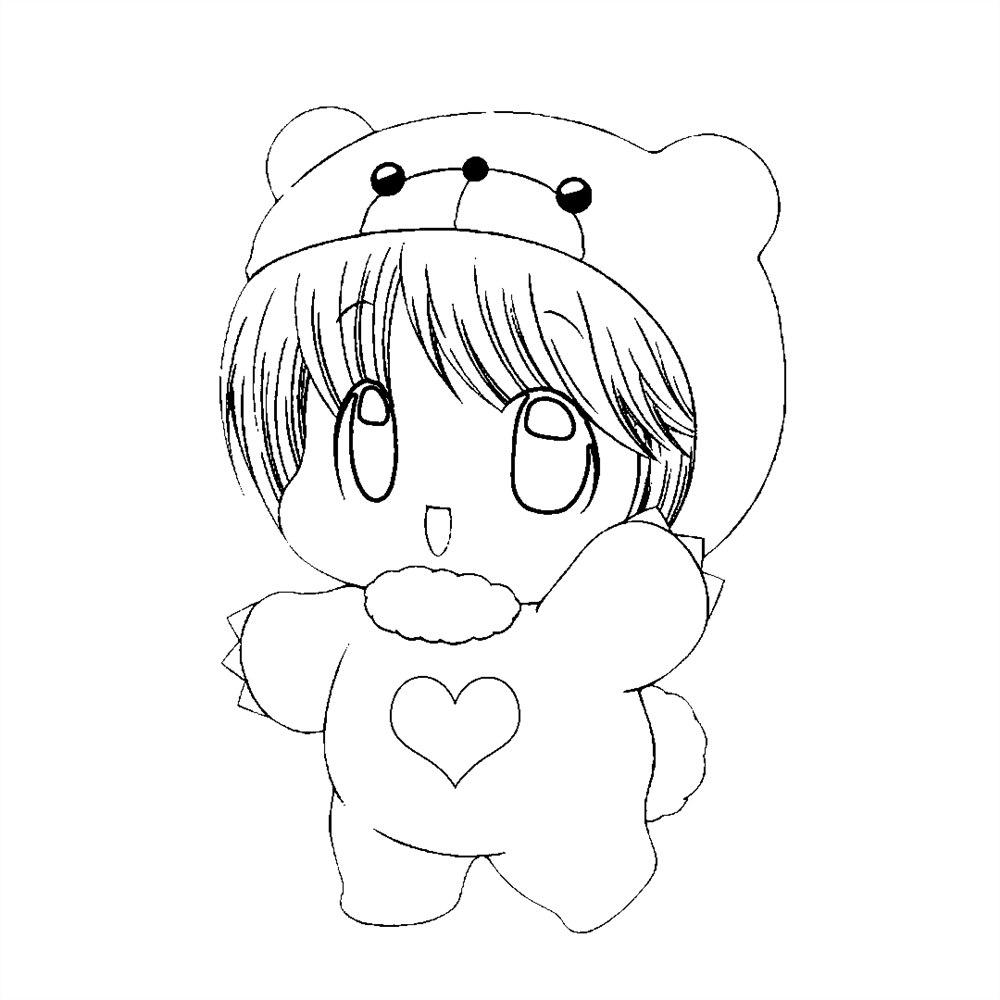 desenhos kawaii anime para colorir