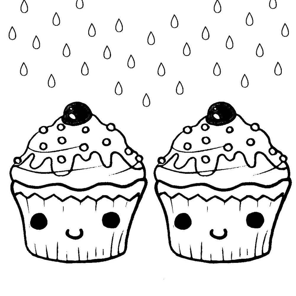desenhos kawaii bolinho para colorir