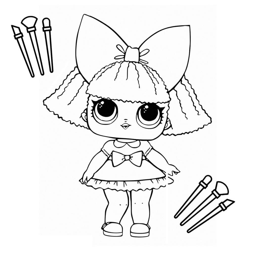desenhos kawaii bonecas para colorir meninas
