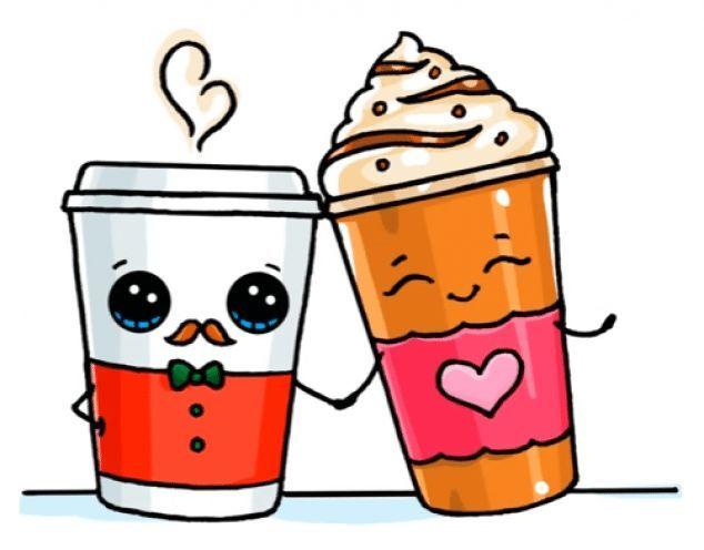 desenhos kawaii café
