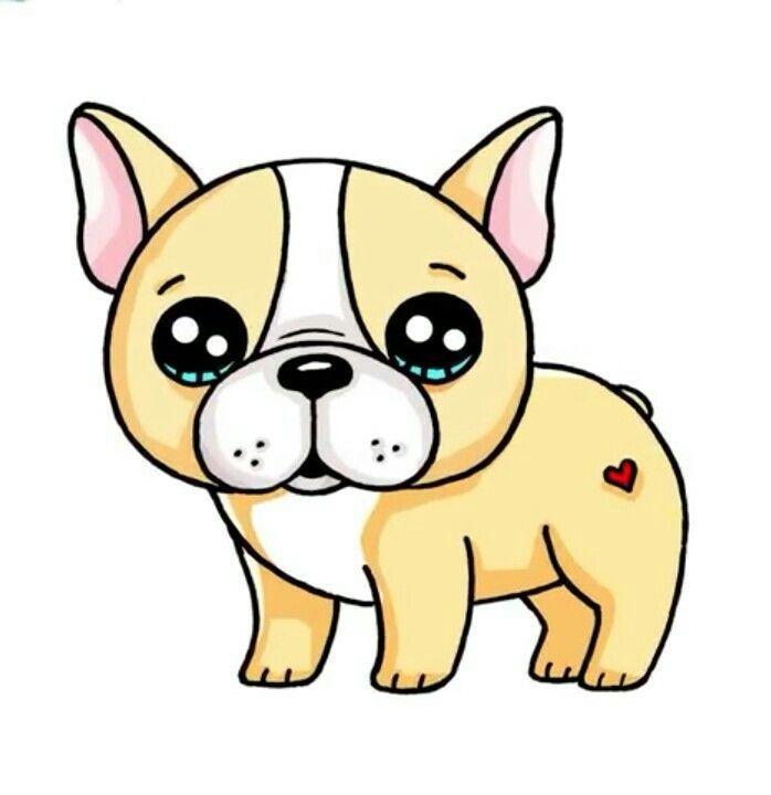 desenhos kawaii cãozinho