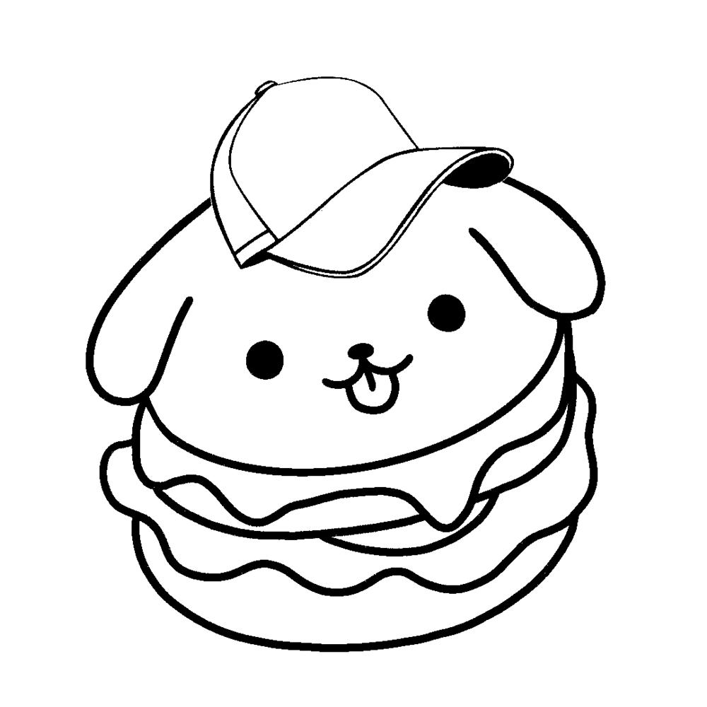 desenhos-kawaii-de-comida para colorir