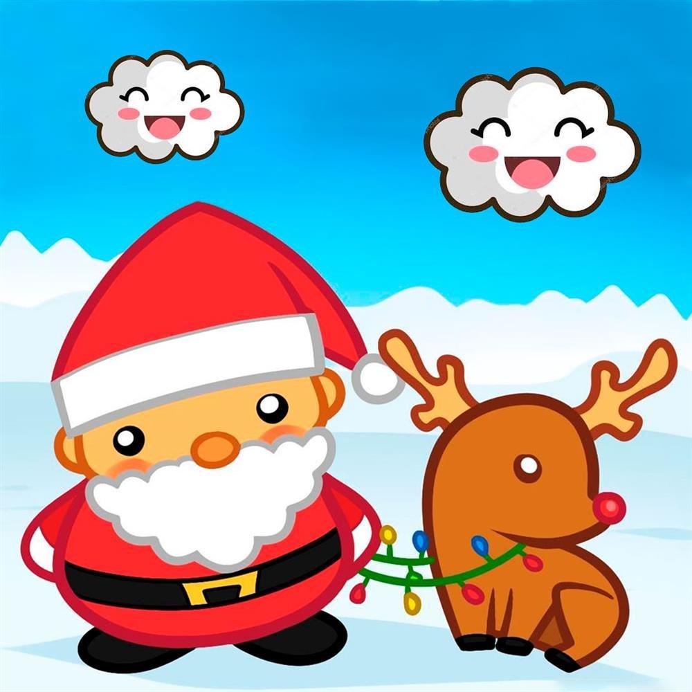 desenhos kawaii de natal