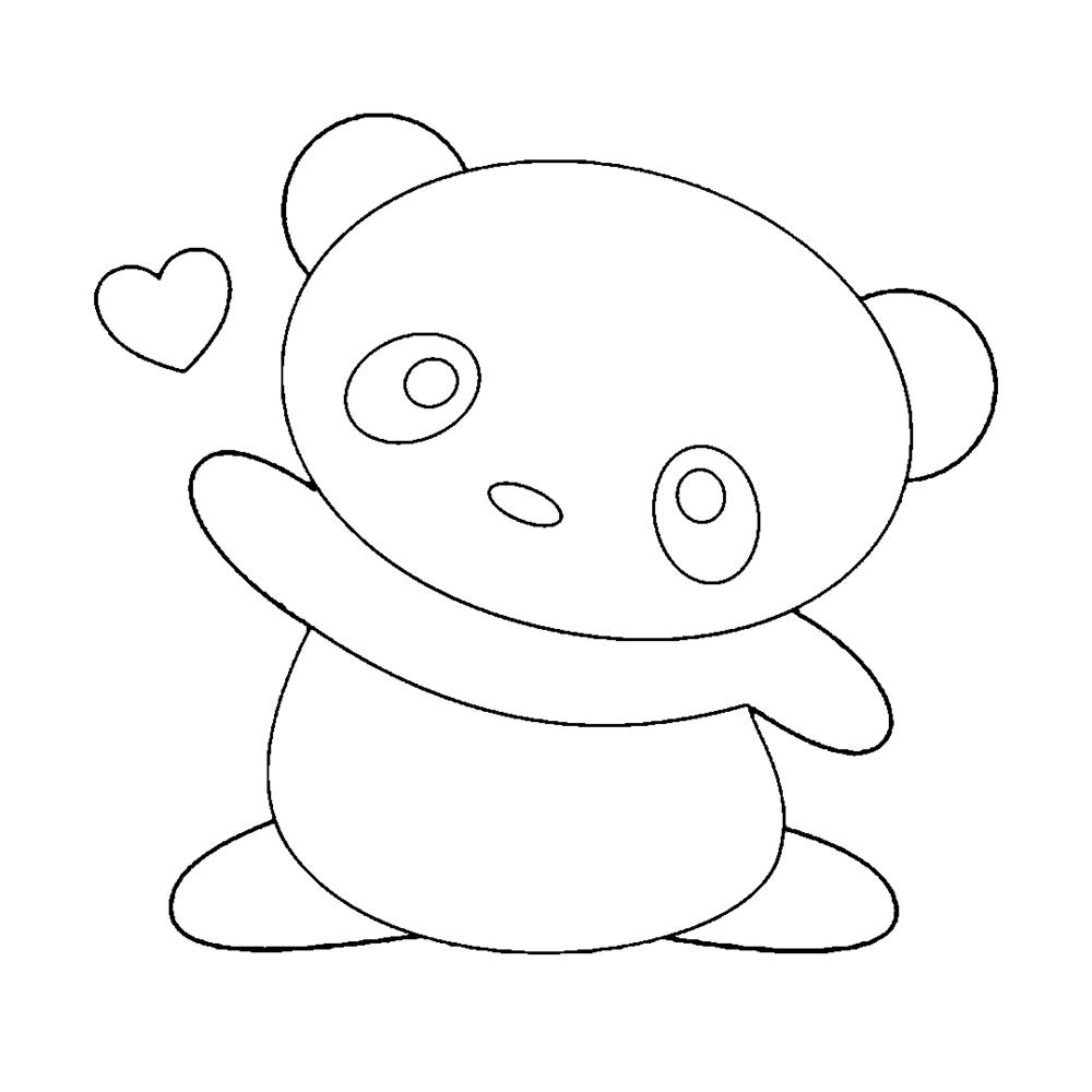 desenhos-kawaii-de-panda para colorir