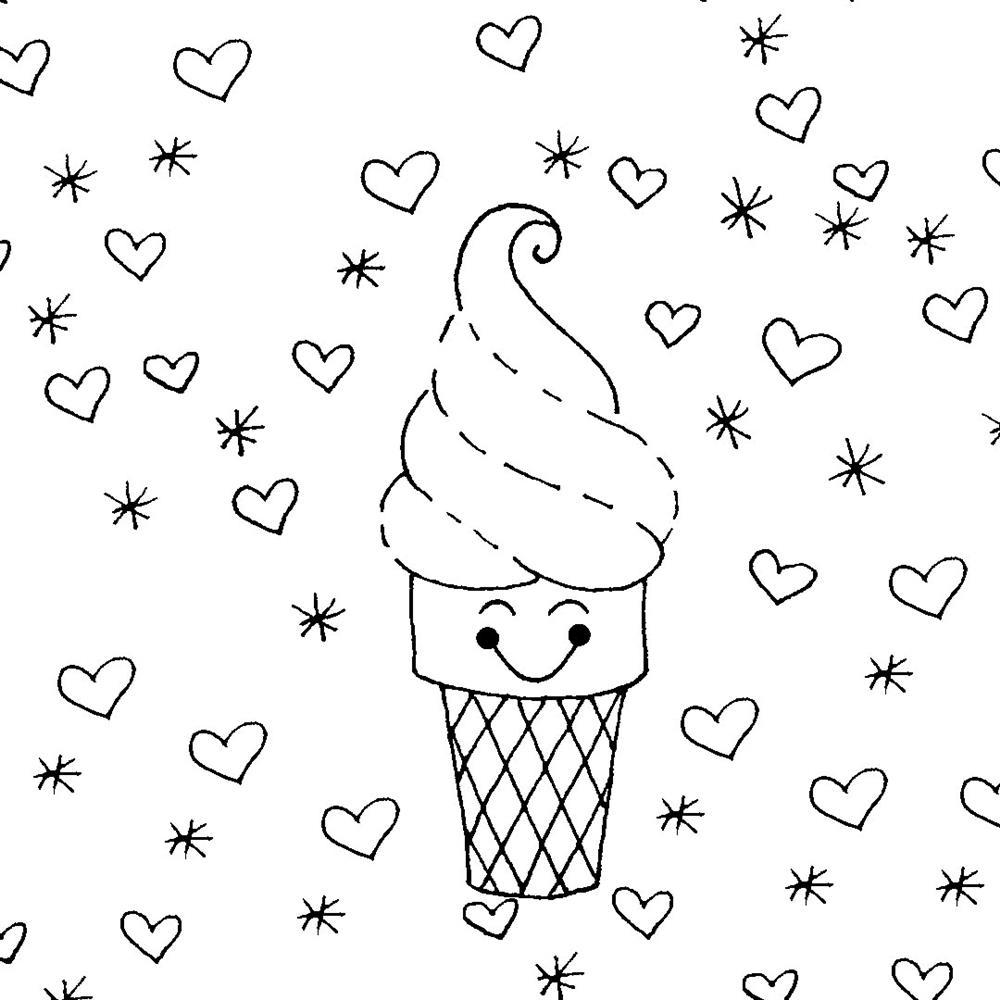 desenhos-kawaii-de-sorvete para colorir