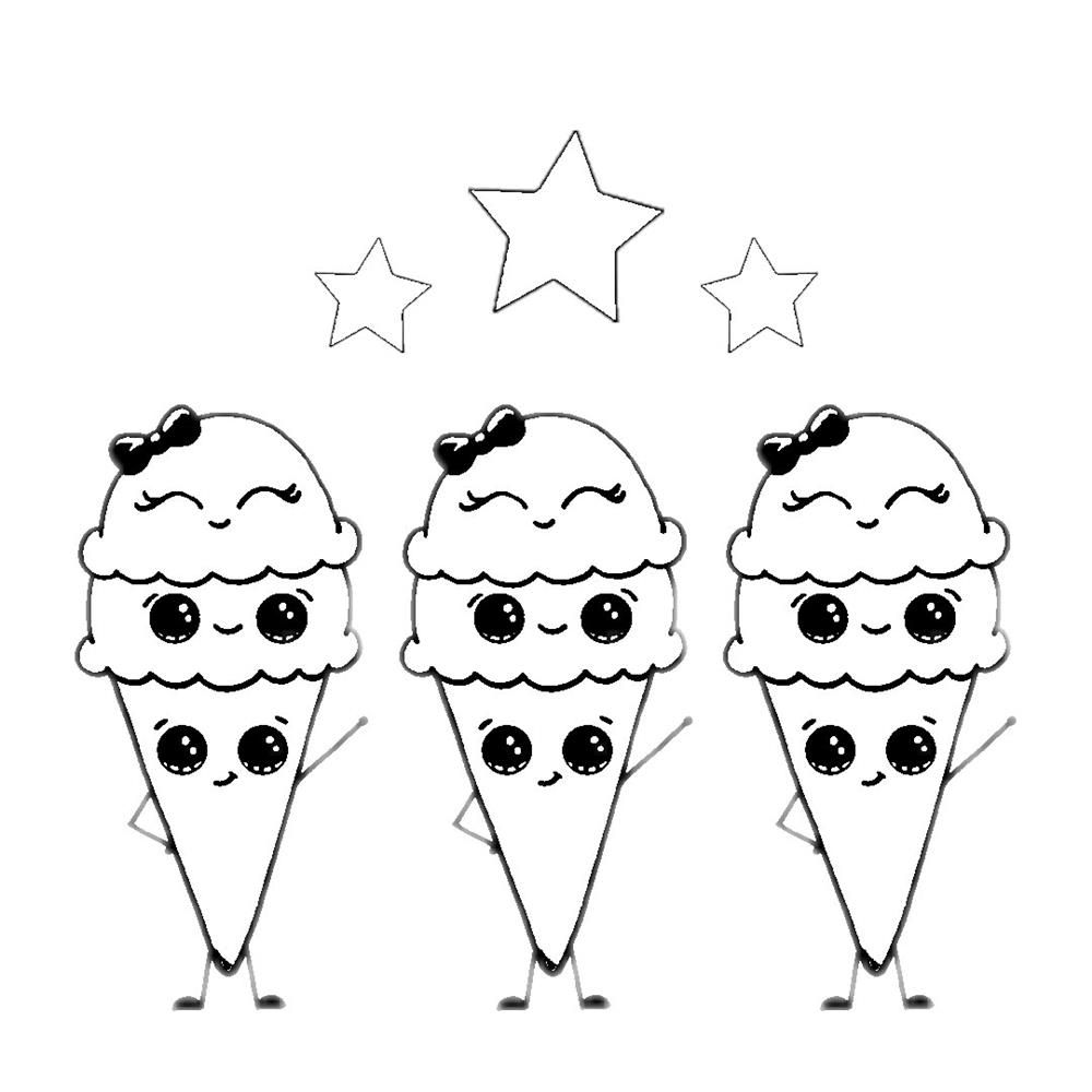desenhos-kawaii-de-sorvetes-para colorir