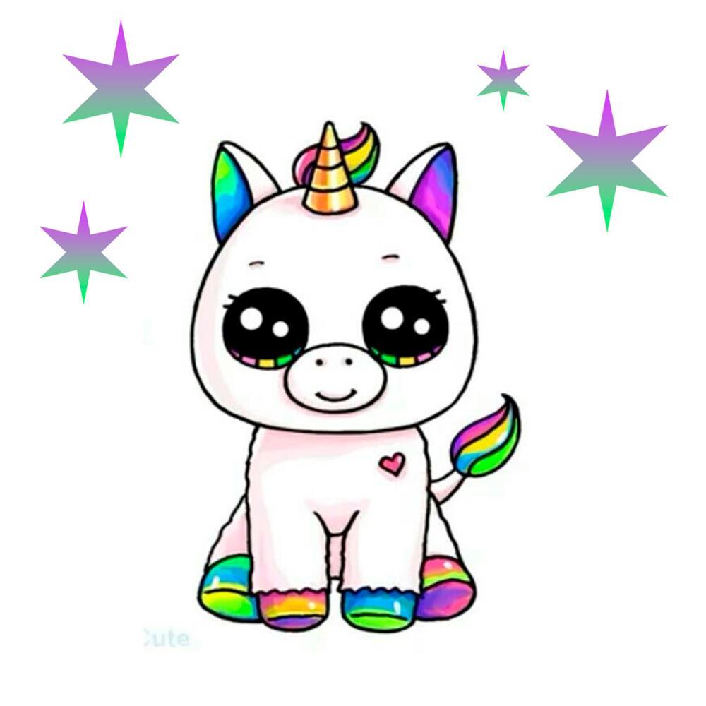desenhos kawaii de unicornio fofo