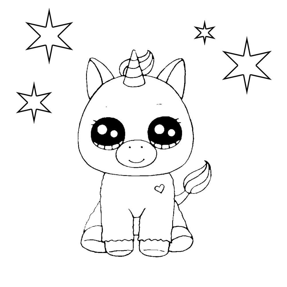 desenhos kawaii de unicornio para colorir