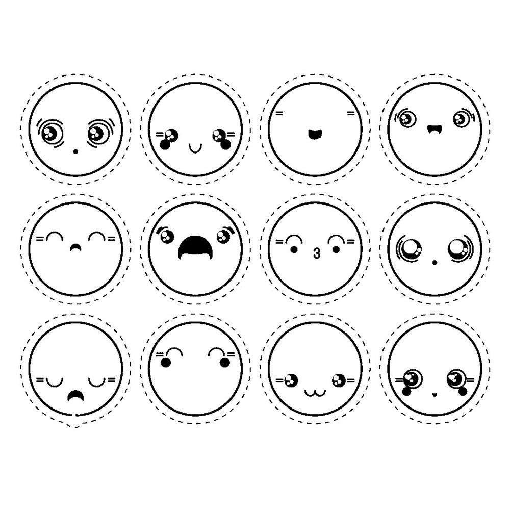desenhos kawaii emojis para colorir