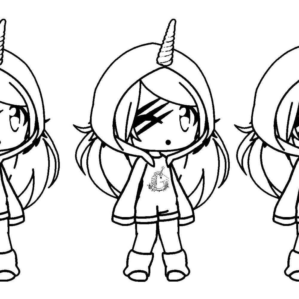 desenhos-kawaii-gacha-life para colorir