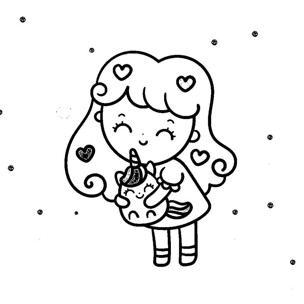 desenhos-kawaii-girl para colorir