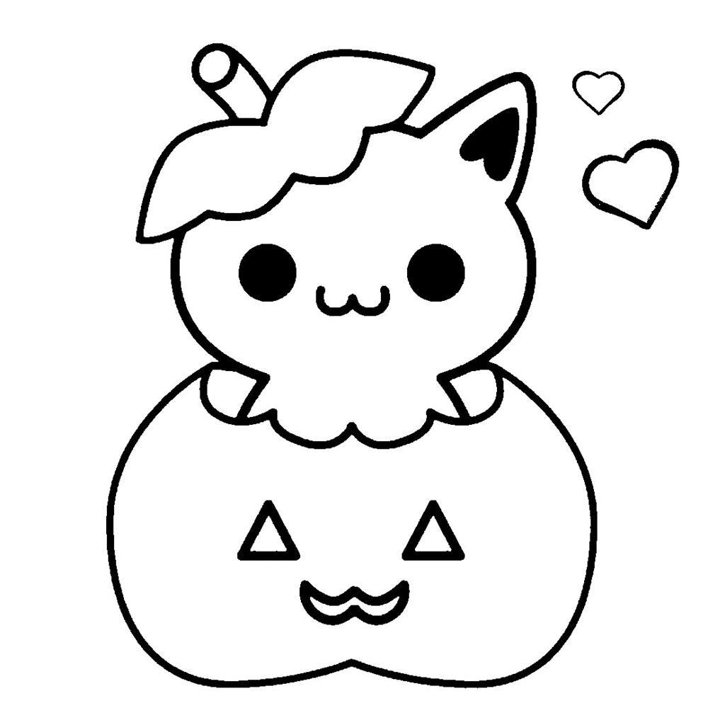 desenhos-kawaii-halloween para colorir