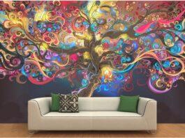 desenhos na parede