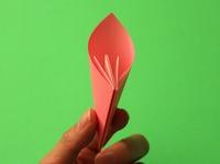 dobradura de flor origami