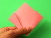 dobradura de flor papel