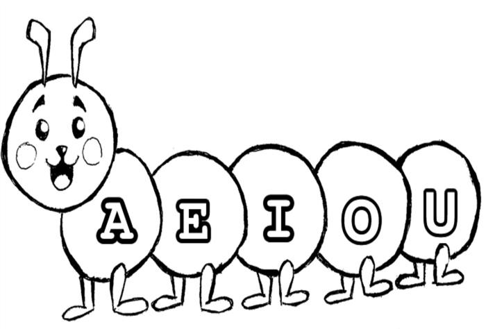 educação infantil desenhos educativos para colorir imprimir gratis vogais