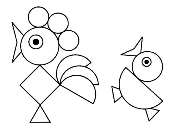 formas geometricas exercicio crianças