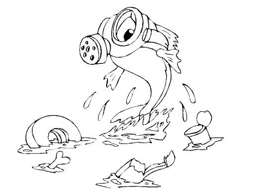meio ambiente lixo descarte desenho