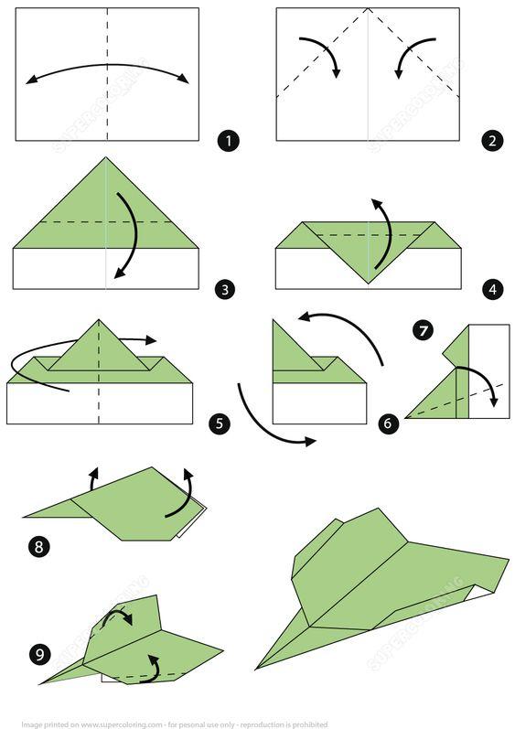 origami aviãozinho