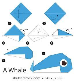 origami baleia fácil