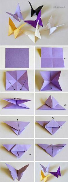 origami borboleta asa