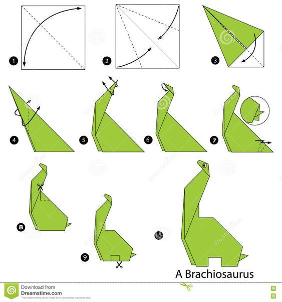 origami braquiossauro