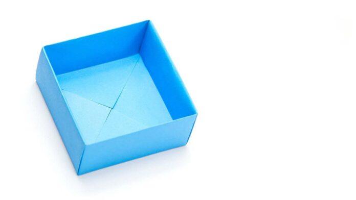 origami de caixa