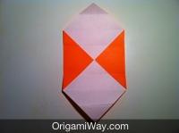 origami de caixa colorido