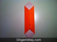 origami de caixa dobrando