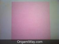 origami de caixa papel