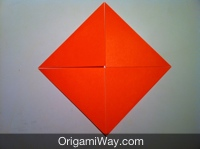 origami de caixa simples