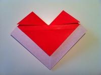 dobradura de envelope de coração