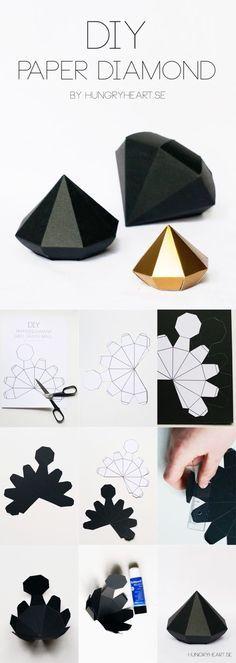 origami diamante