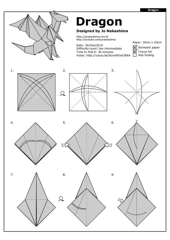 origami dragão 2