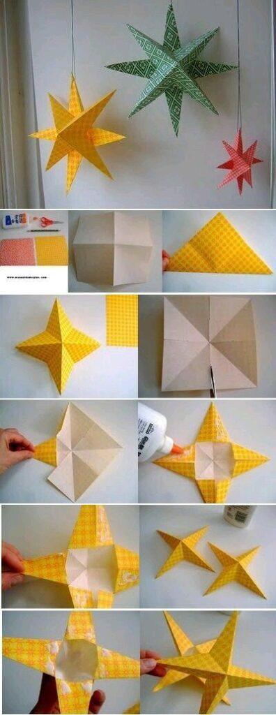 origami estrela natal